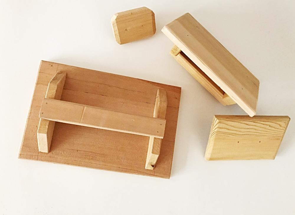 Frattazzo in legno di cedro
