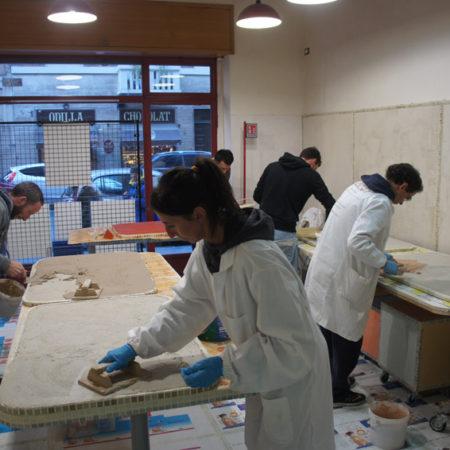 partecipanti al corso di Tadelakt