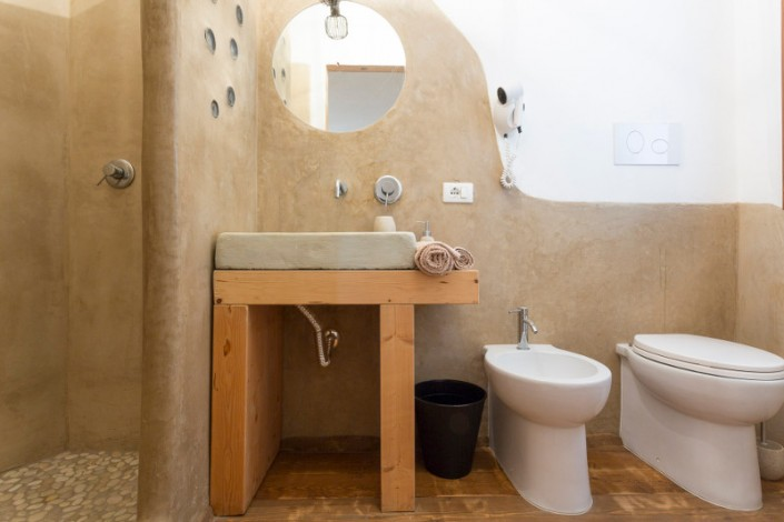 Bagno realizzato in Tadelakt