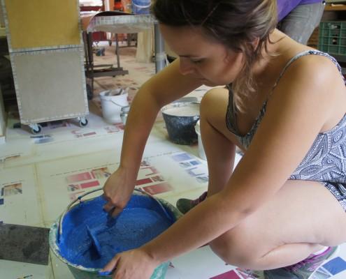 preparazione tadelakt colorato