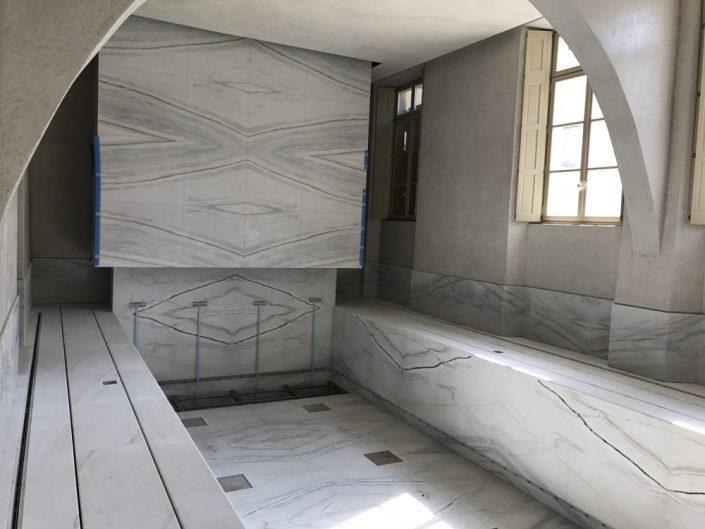 bagno moderno tadelakt