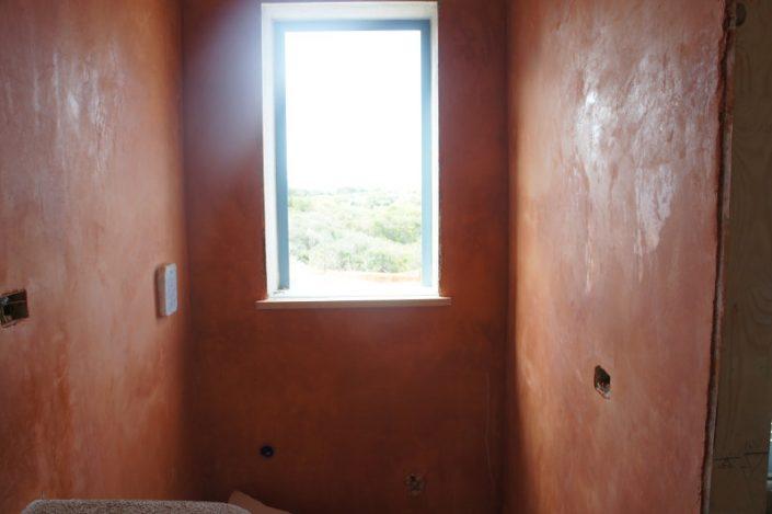 Realizzazione pareti Rosso ercolano
