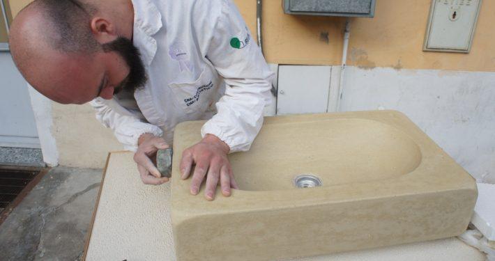 realizzare lavandino in tadelakt naturale