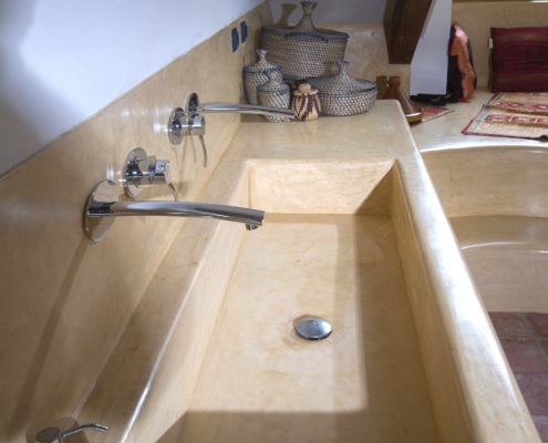 lavabo en tadelakt