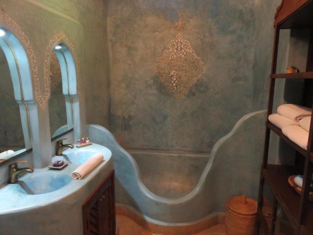 Bagno in Tadelakt azzurro