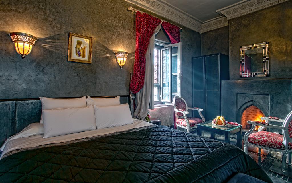 Lussuosa stanza da letto in tadelakt nero