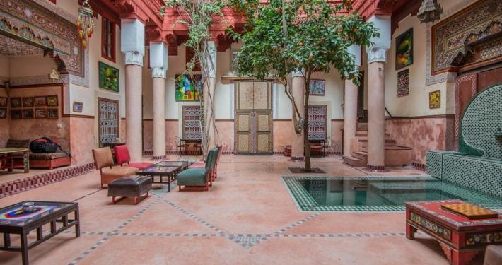 Riad Chorfa cortile centrale