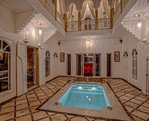 Riad Dreams cortile centrale