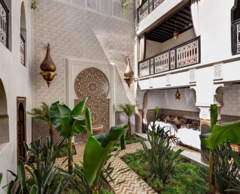 Riad Kherriedine giardino centrale