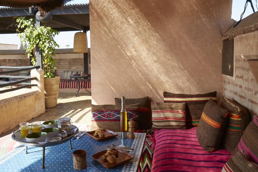 area relax esterna con mura in tadelakt