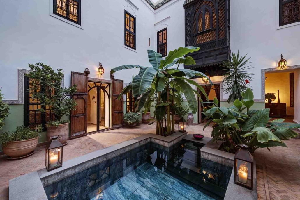 piscina centrale del riad
