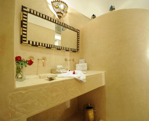 lavabo doppio in tadelakt naturale