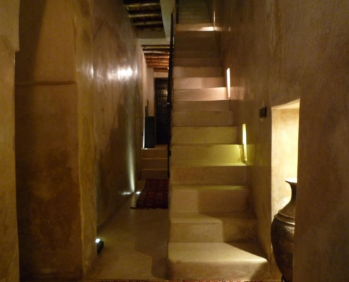 scalinata in tadelakt naturale
