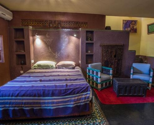 stanza da letto in tadelakt viola