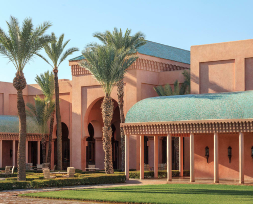 Estreno in tadelakt rosso Marrakech